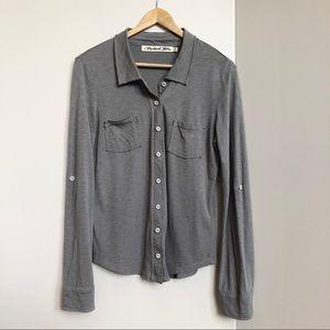 Michael Stars Gray Button Front Shirt